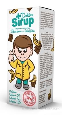 Doktor Sirup kalciový sirup s príchuťou Banánov v čokoláde 1x100 ml