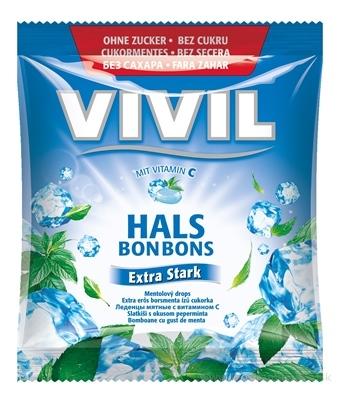VIVIL BONBONS Extra Stark drops mentolový s vitamínom C, bez cukru 1x60 g