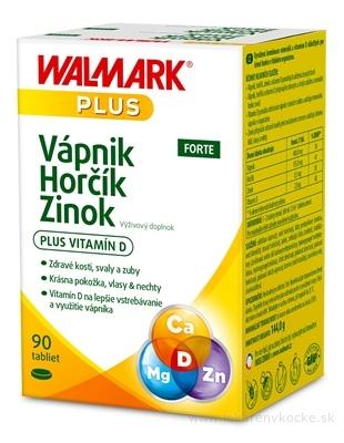 WALMARK Vápnik Horčík Zinok FORTE tbl 1x90 ks