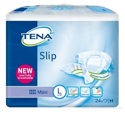 TENA SLIP MAXI LARGE NEW plienkové nohavičky (inov.2014) 1x24 ks