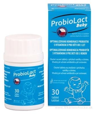ProbioLact Baby tablety na cmúľanie (s vitamínom D), príchuť vanilka, citrón 1x30 ks
