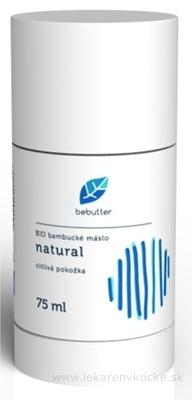 Bebutter BIO bambucké maslo Natural telový balzam, citlivá pokožka 1x75 ml