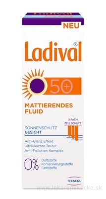Ladival URBAN fluid SPF 50+ na ochranu tváre pri opaľovaní 1x50 ml