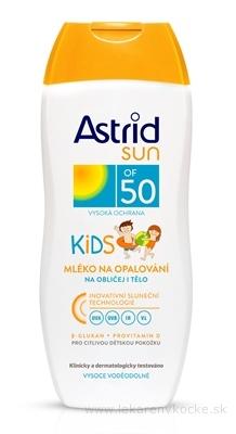 Astrid sun KIDS mlieko na opaľovanie OF 50 1x200 ml