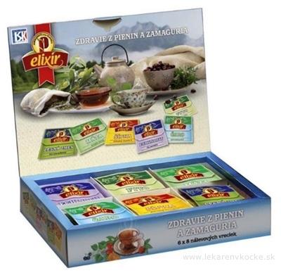 AGROKARPATY kazeta ZDRAVIE Z PIENIN A ZAMAGURIA bylinný čaj (6x8) 48 nálevových vrecúšok po 2 g (96 g)