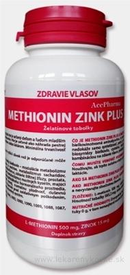 AcePharma METHIONIN ZINK PLUS cps (želatínové tobolky) 1x100 ks