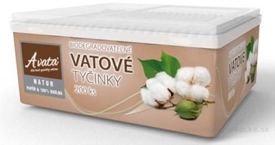 A vata NATUR VATOVÉ TYČINKY box biodegradovateľné (papier+bavlna) 1x200 ks