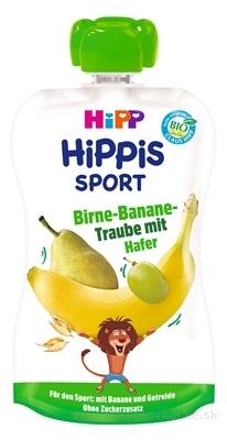 HiPP HIPPis SPORT Hruška Banán Hrozno Ovos kapsička (od 1.roku) ovocný príkrm 1x120 ml