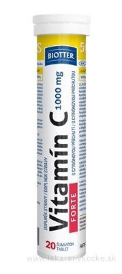 Biotter Vitamín C FORTE 1000 mg tbl eff s citrónovou príchuťou 1x20 ks