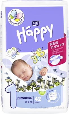 Bella happy newborn pleny 2-5 kg 42 ks