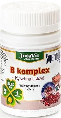 JutaVit B-komplex + kyselina listová tbl 1x60 ks