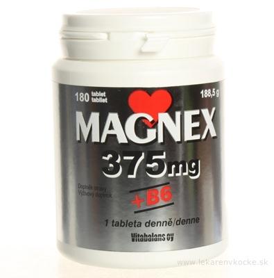 Magnex 375 mg + B6 tbl 1x180 ks