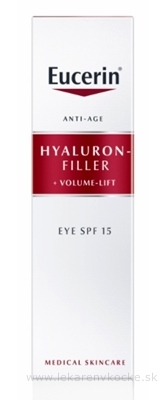Eucerin HYALURON-FILLER+Volume-Lift Očný krém Anti-Age, SPF 15, 1x15 ml