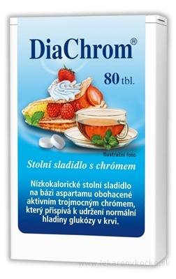 DiaChrom nízkokalorické sladidlo tbl 1x80 ks