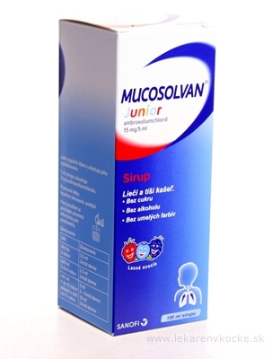 MUCOSOLVAN Junior sir 15 mg/5 ml 1x100 ml