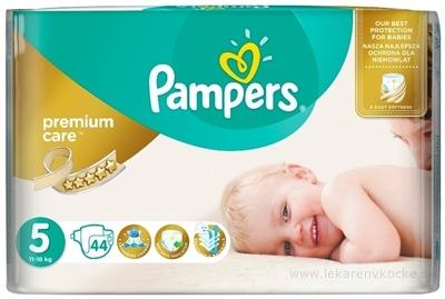 PAMPERS PREMIUM CARE 5 Junior detské plienky (11-18 kg) 1x44 ks