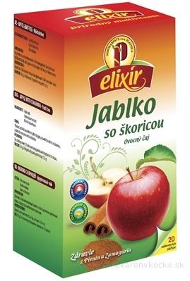 AGROKARPATY elixír JABLKO so škoricou ovocno-bylinný čaj, balené vrecúška, 20x1,5g (30 g)