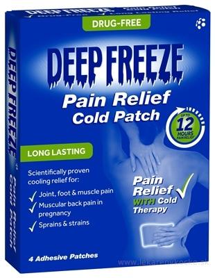 Deep Freeze Pain Relief Cold Patch chladivá náplasť 1x4 ks