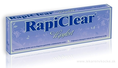 RapiClear H.pylori jednokrokový test 1x1 set