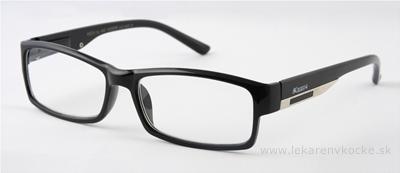 American Way okuliare na čítanie FLEX čierne s kovovým doplnkom +2.50, 1x1 ks
