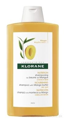 KLORANE SHAMPOOING AU BEURRE DE MANGUE šampón s mangovým maslom na suché vlasy 1x400 ml