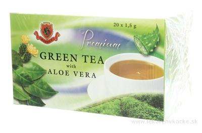HERBEX Premium GREEN TEA S ALOE VERA zelený čaj 20x1,5 g (30 g)