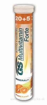 GS Multivitamín Forte šumivý s minerálmi pomaranč tbl eff 20+5 navyše (25 ks)
