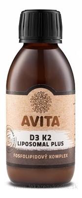 AVITA D3 K2 LIPOSOMAL Plus roztok, fosfolipidový komplex 1x150 ml