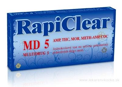 RapiClear MD 5 (MULTIDRUG 5) IVD, test drogový na samodiagnostiku 1x1 ks