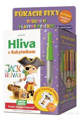 Imunit HLIVA s Rakytníkom pre deti JACK HLÍVÁK tbl 60 ks + Darček (pastelové fúkacie fixy) zadarmo, 1x1 set