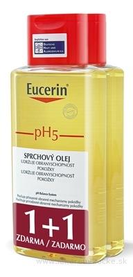 Eucerin pH5 Sprchový olej pre citlivú pokožku 2x200 ml (1+1 zdarma), 1x1 set