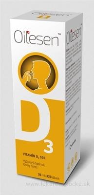 OILESEN VITAMÍN D3 500 ústny sprej (320 dávok) 1x30 ml