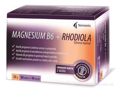 Noventis Magnesium B6 + Rhodiola tbl 30+10 ks (40 ks)