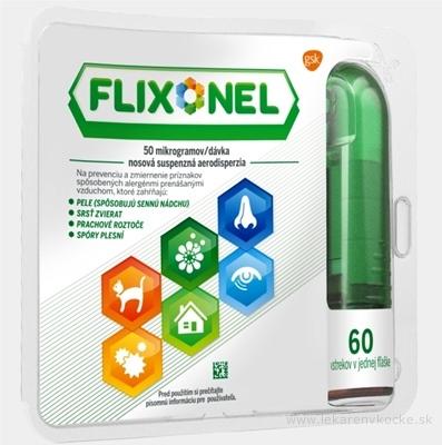 Flixonel 50 mikrogramov/dávka aer nau (fľ.skl.jantárová + dávkov.pump.) 1x60 dávok