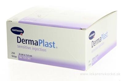 DERMAPLAST INJECTION SENSITIVE náplasť na ošetrenie miesta po injekcii alebo odbere krvi, nastrihané (40x16 mm) 1x250 ks
