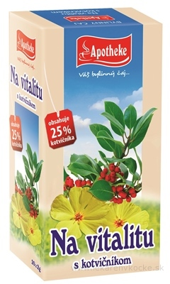 APOTHEKE ČAJ Na vitalitu s kotvičníkom 20x2 g (40 g)