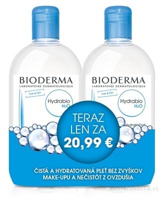 Bioderma Hydrabio H2O 2 x 500 ml