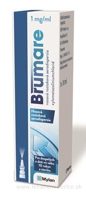 Brumare 1 mg/ml nosová roztoková aerodisperzia aer nao 10 mg (fľ.HDPE) 1x10 ml