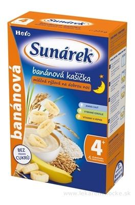 SUNÁREK kašička na dobrú noc mliečna ryžová banánová (od ukonč. 4. mesiaca) 1x225 g