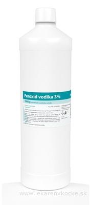 Peroxid vodíka 3 % sol dor (fľ.HDPE) 1x1000 g