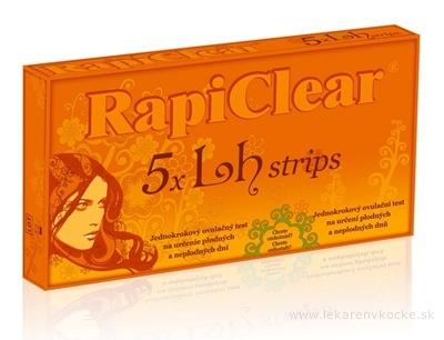 RapiClear 5 x Lh strips jednokrokový ovulačný test 1x5 ks
