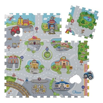 Puzzle penové Mesto 30x30cm 9ks, 12m+