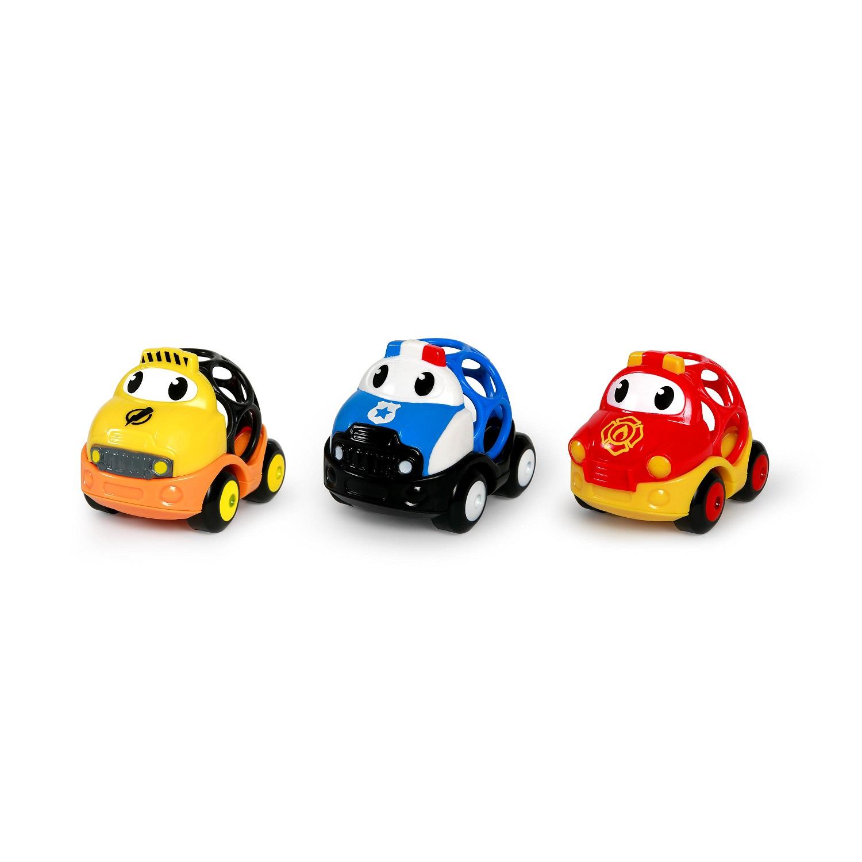 Hračka záchranné vozidlá Dan, Ben a Zac Oball Go Grippers™ 3ks, 18m+