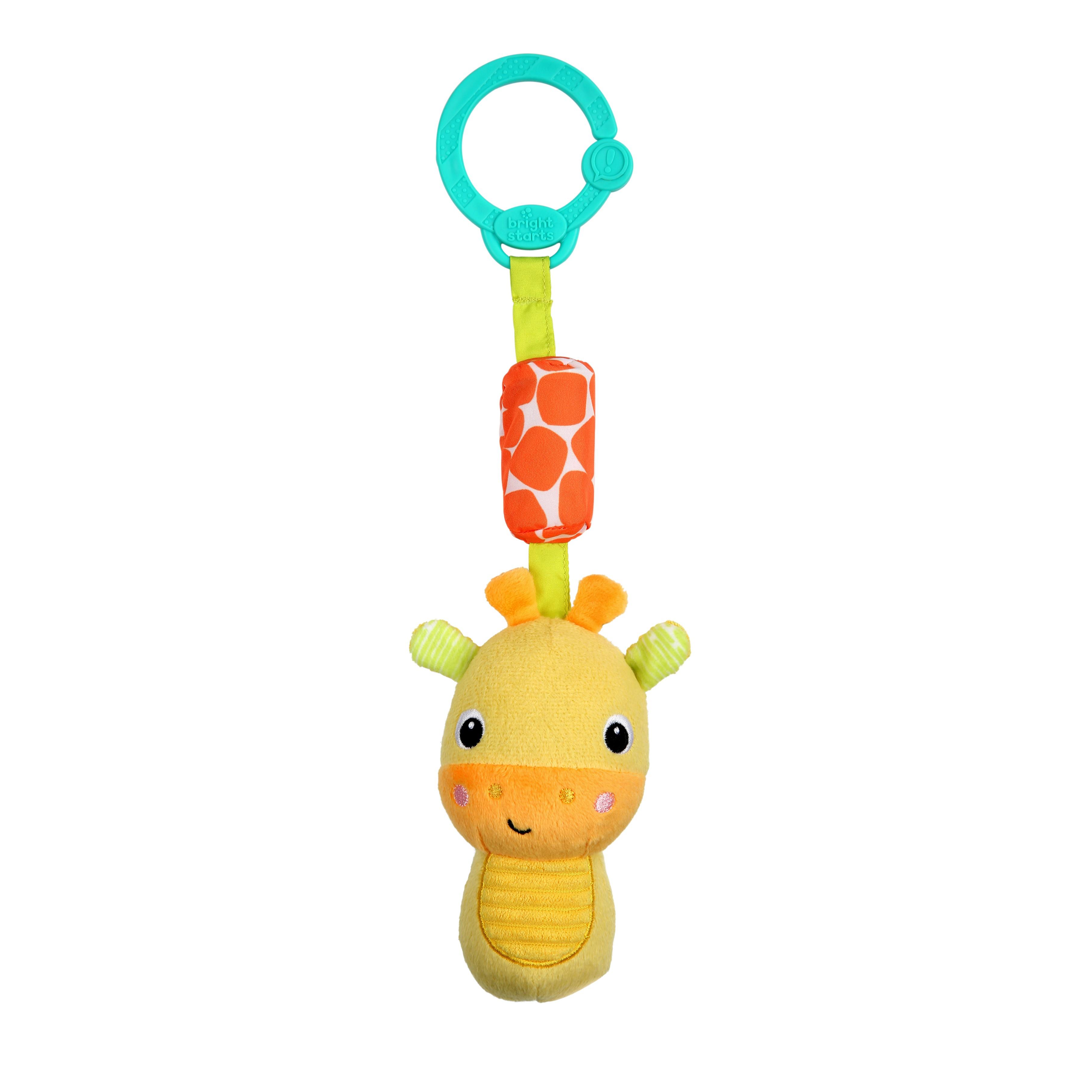 Hračka plyšová hrkálka na C krúžku Chime Along Friends žirafa 0m+