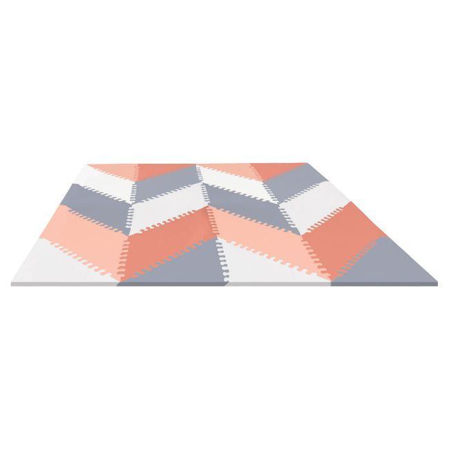 Puzzle penové - šedo-oranžové 72ks -10m+