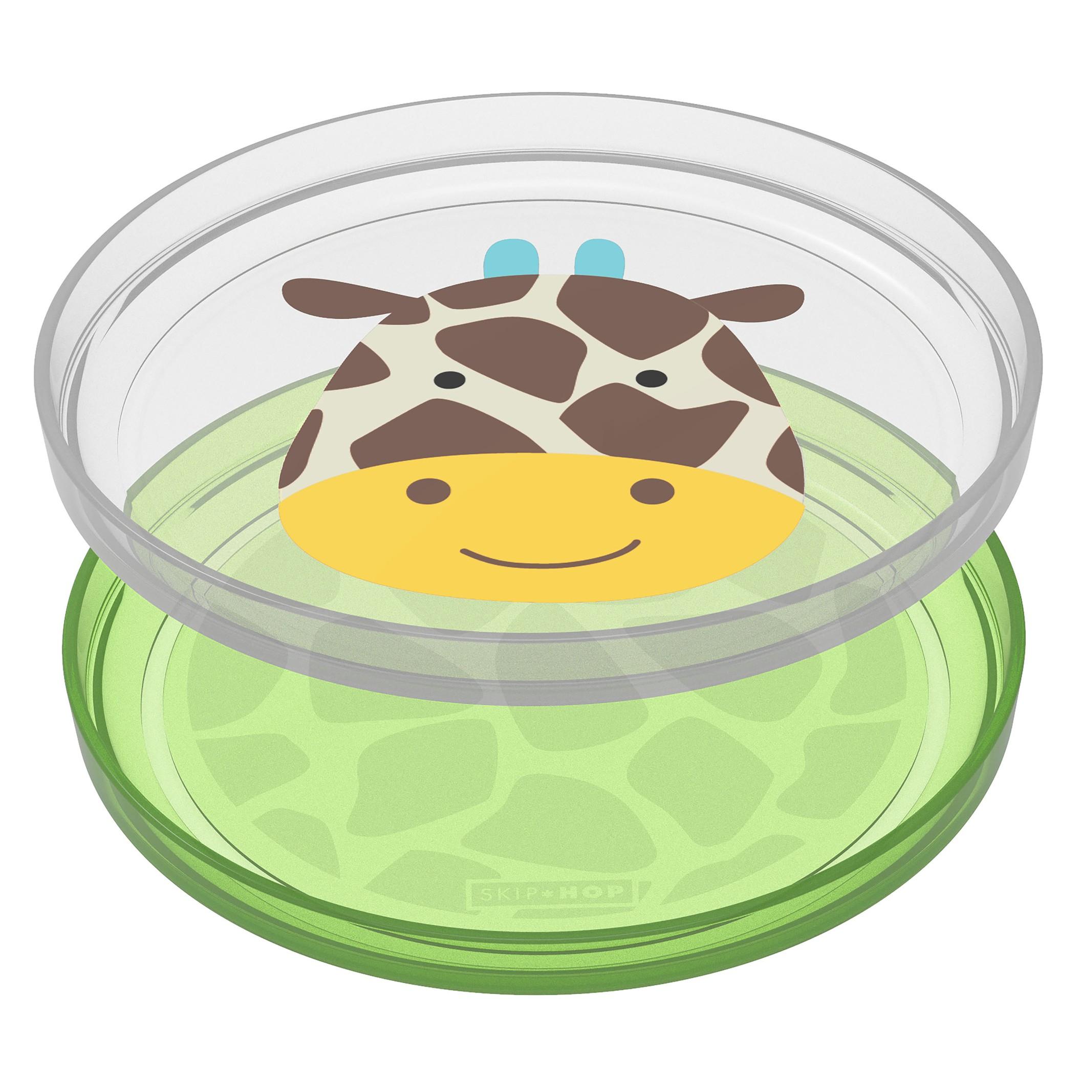 Zoo tanieriky protišmykové 2 kusy - Žirafa 6m+