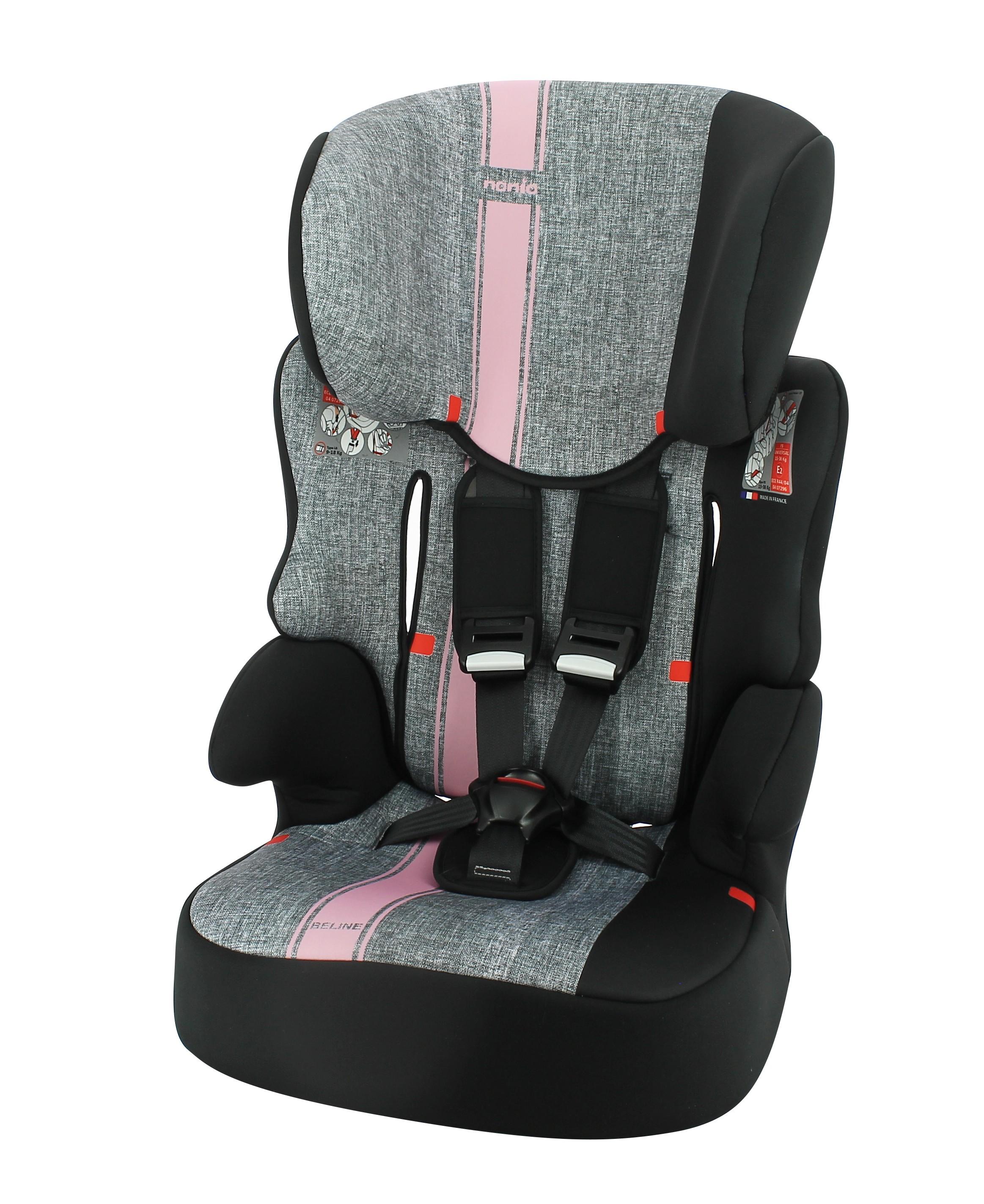 Autosedačka Beline First Linea Grey Pink 9-36kg