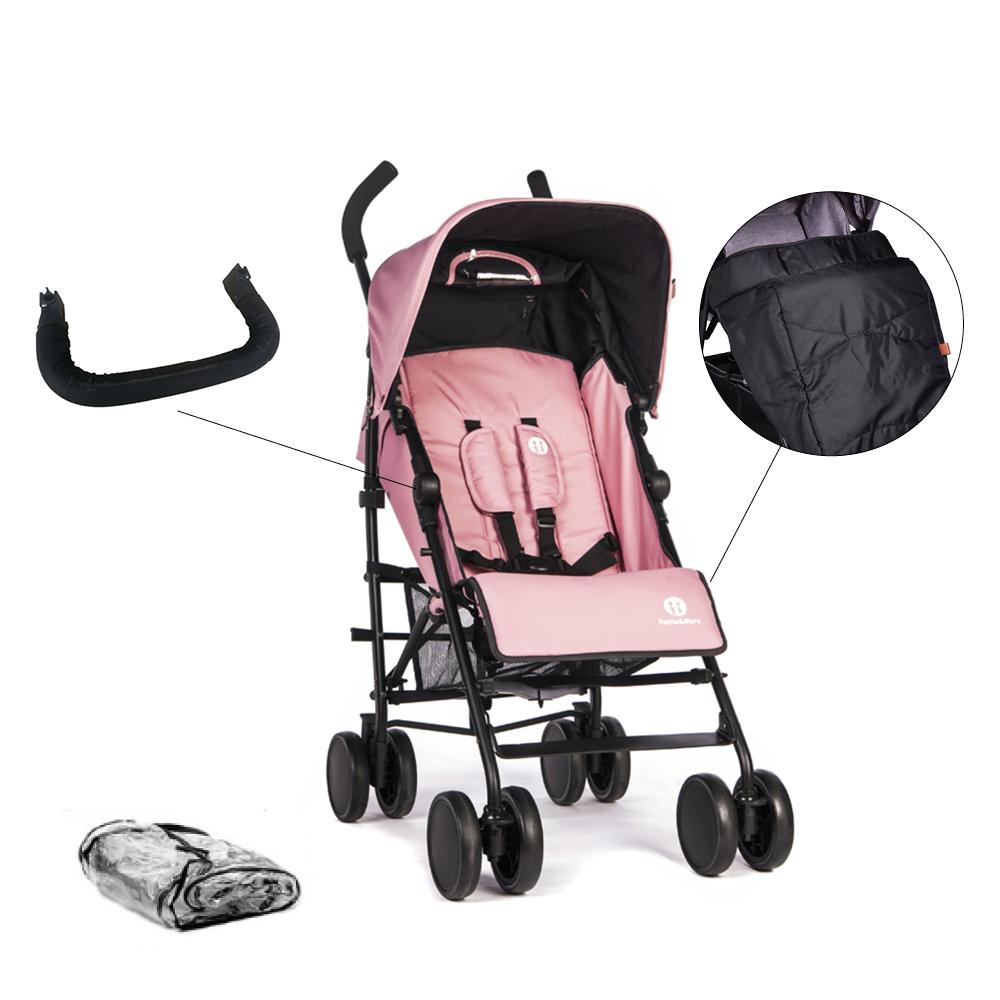 Set kočík golfový Musca Rose Pink + madlo + nánožník + pláštenka