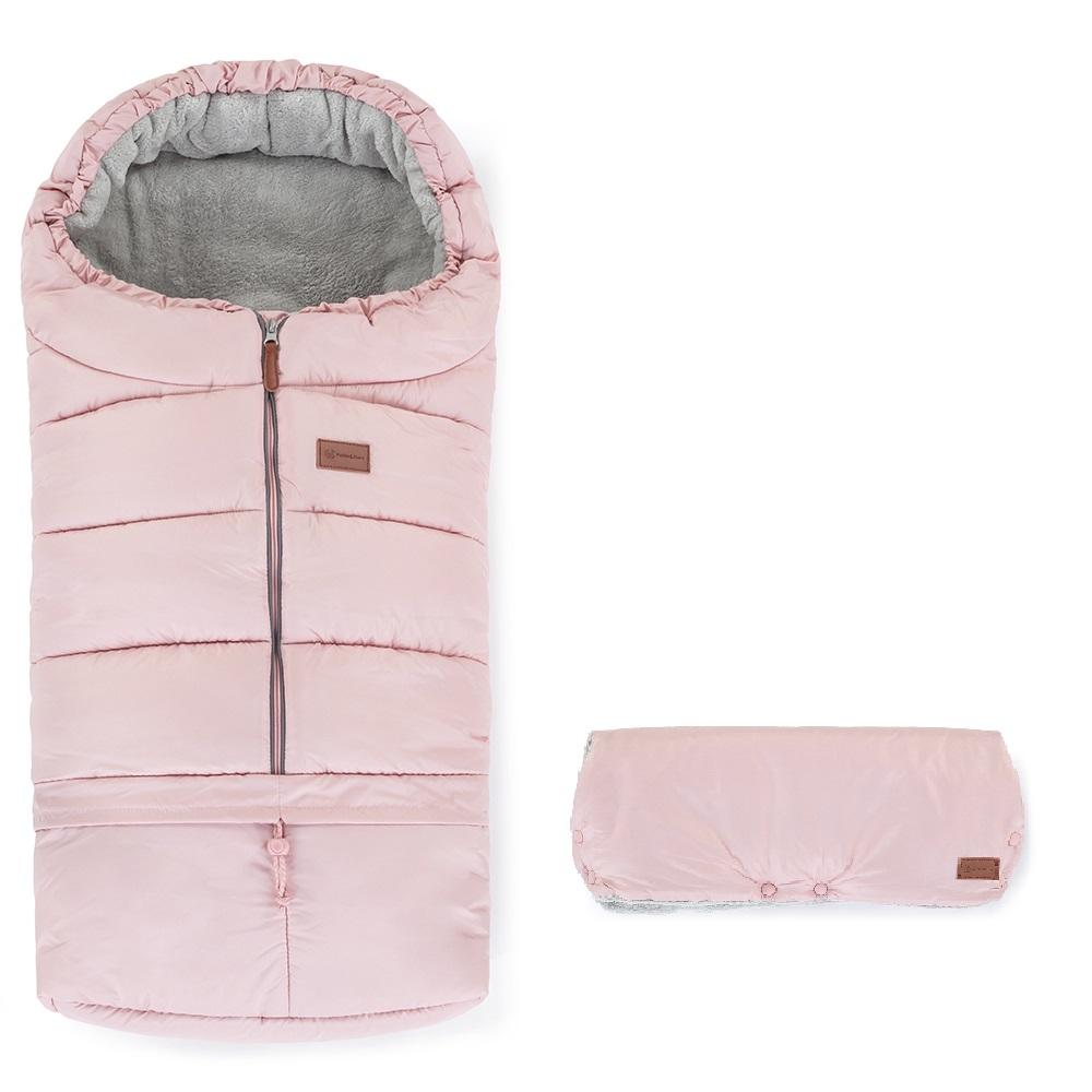 Set fusak 3v1 Jibot a rukávnik Jinja Flamingo Pink Petite&Mars