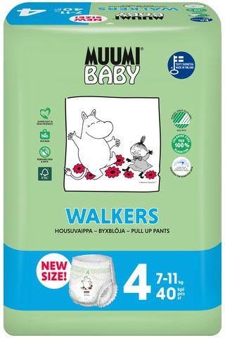 Nohavičky plienkové jednorázové 4 Maxi 7-11kg 40ks Baby Muumi